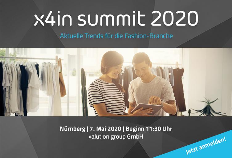 x4in summit 2020: Gipfeltreffen für den Mode-Handel